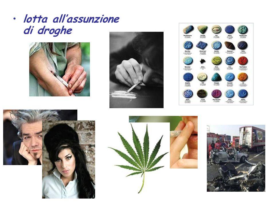 lotta all'assunzione di droghe