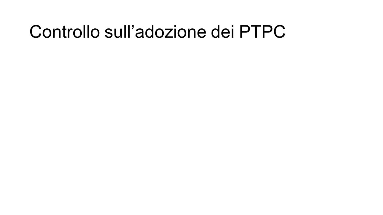 Controllo sull'adozione dei PTPC