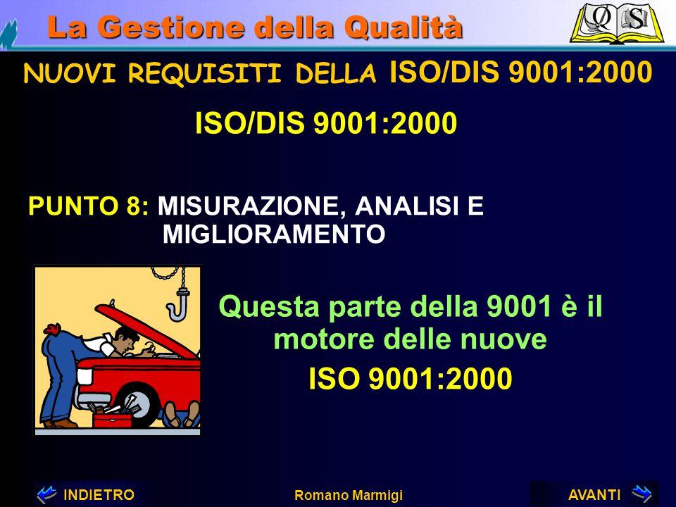 AVANTIINDIETRO Romano Marmigi La Gestione della Qualità 7.4APPROVVIGIONAMENTO 7.4.1. GESTIONE DELL'APPROVVIGIONAMENTO 7.4.2. INFORMAZIONI DI APPROVVIG