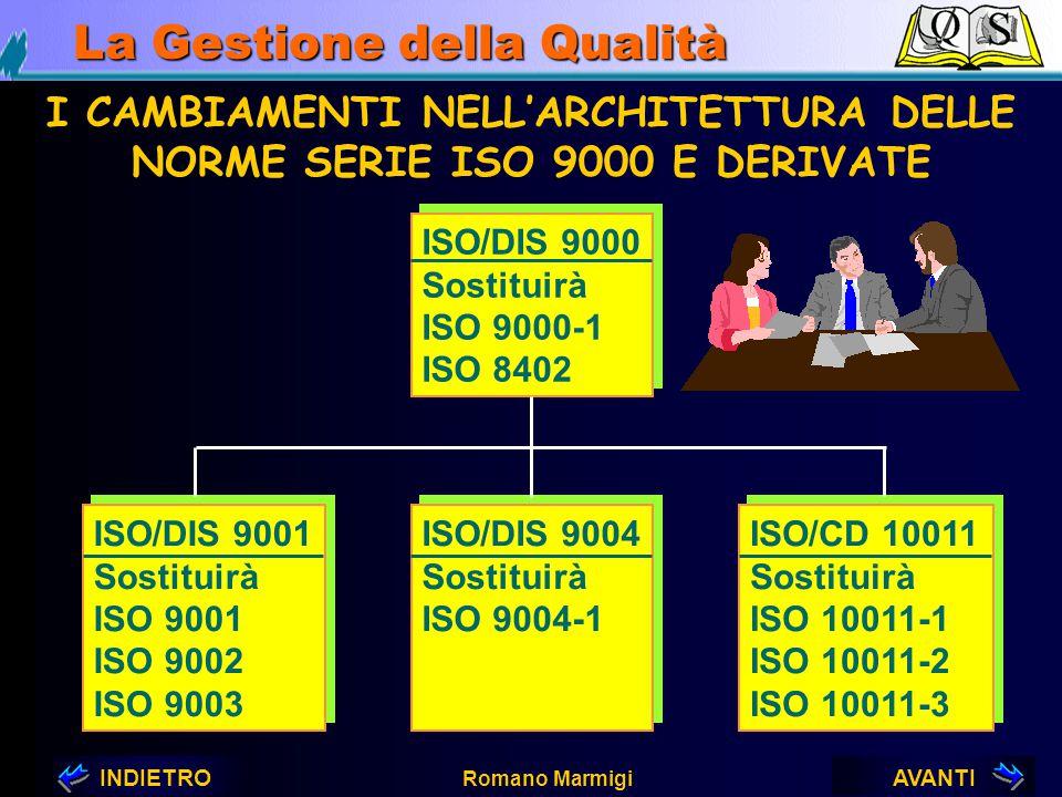 AVANTIINDIETRO Romano Marmigi La Gestione della Qualità 6. ISO 9004 orientata al cliente, alle altre parti interessate ed all'efficacia ed efficienza