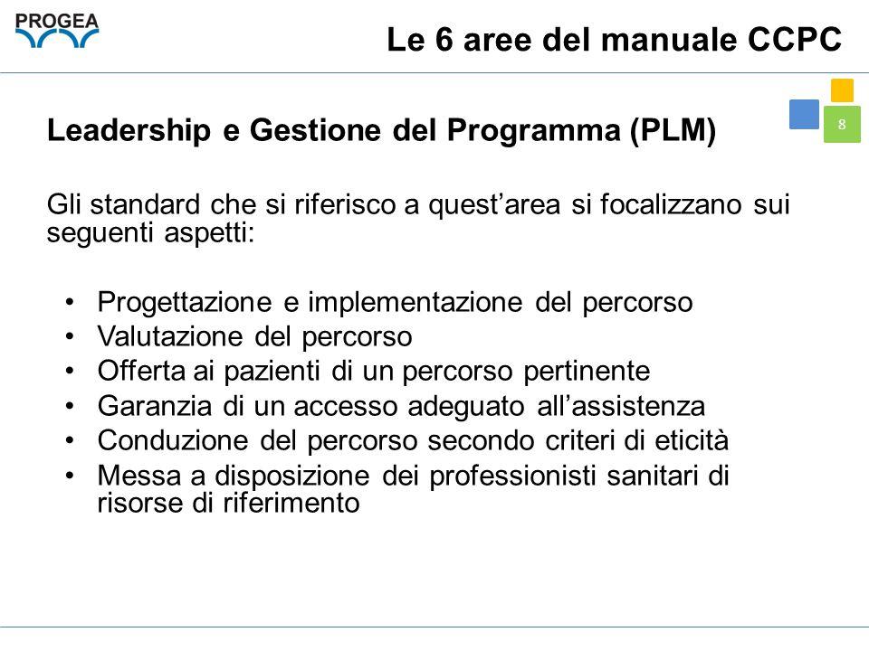 8 Leadership e Gestione del Programma (PLM) Gli standard che si riferisco a quest'area si focalizzano sui seguenti aspetti: Progettazione e implementa