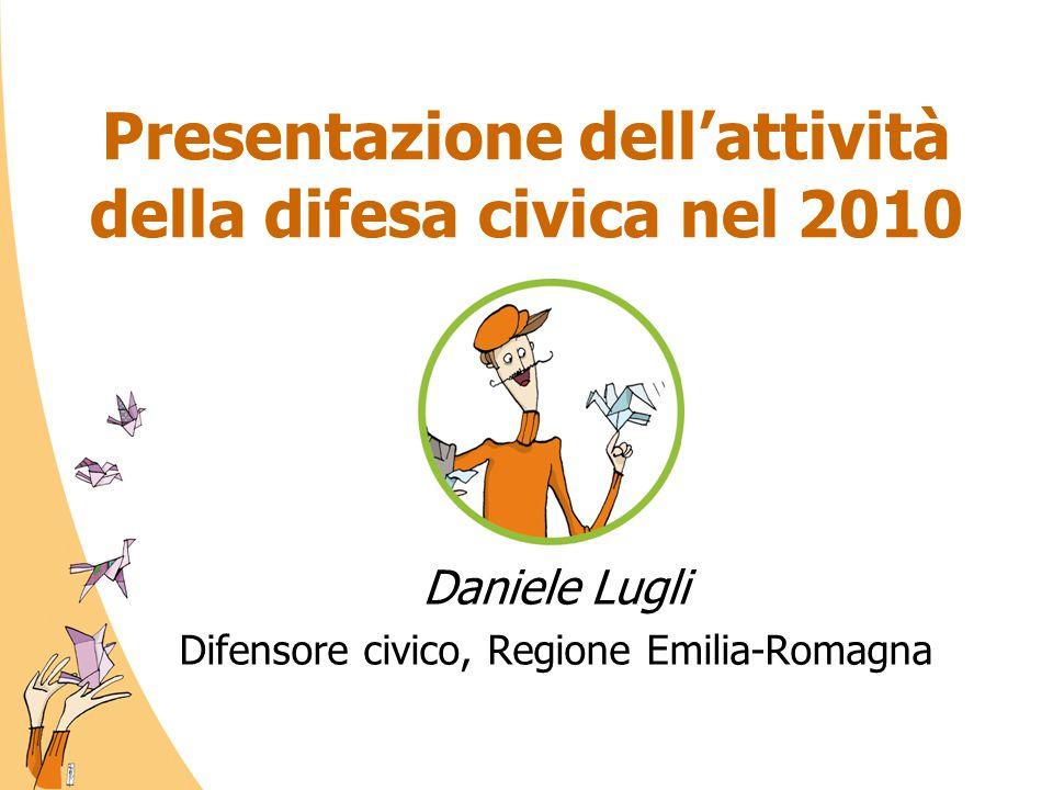 Presentazione dell'attività della difesa civica nel 2010 Daniele Lugli Difensore civico, Regione Emilia-Romagna
