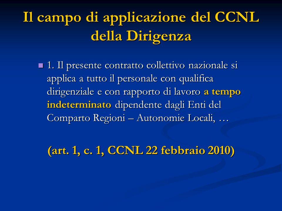 1. Il presente contratto collettivo nazionale si applica a tutto il personale con qualifica dirigenziale e con rapporto di lavoro a tempo indeterminat