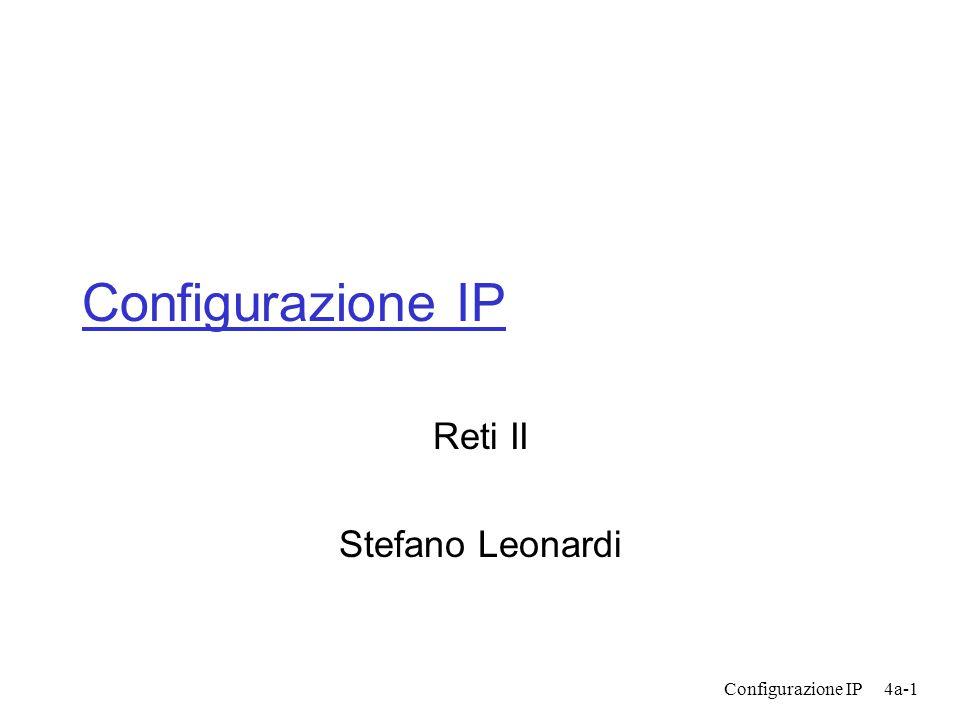 Configurazione IP4a-1 Configurazione IP Reti II Stefano Leonardi