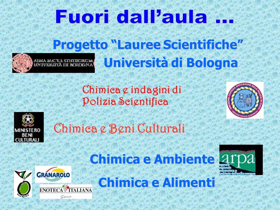 Progetto Lauree Scientifiche Progetto Lauree Scientifiche Università di Bologna Università di Bologna Chimica e indagini di Polizia Scientifica Chimica e Beni Culturali Chimica e Ambiente Chimica e Alimenti