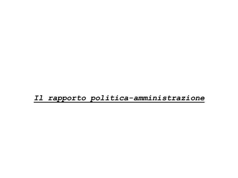 Il rapporto politica-amministrazione