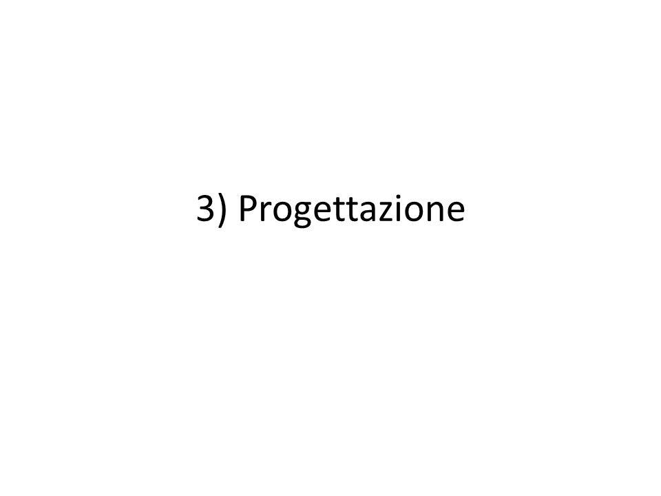 3) Progettazione