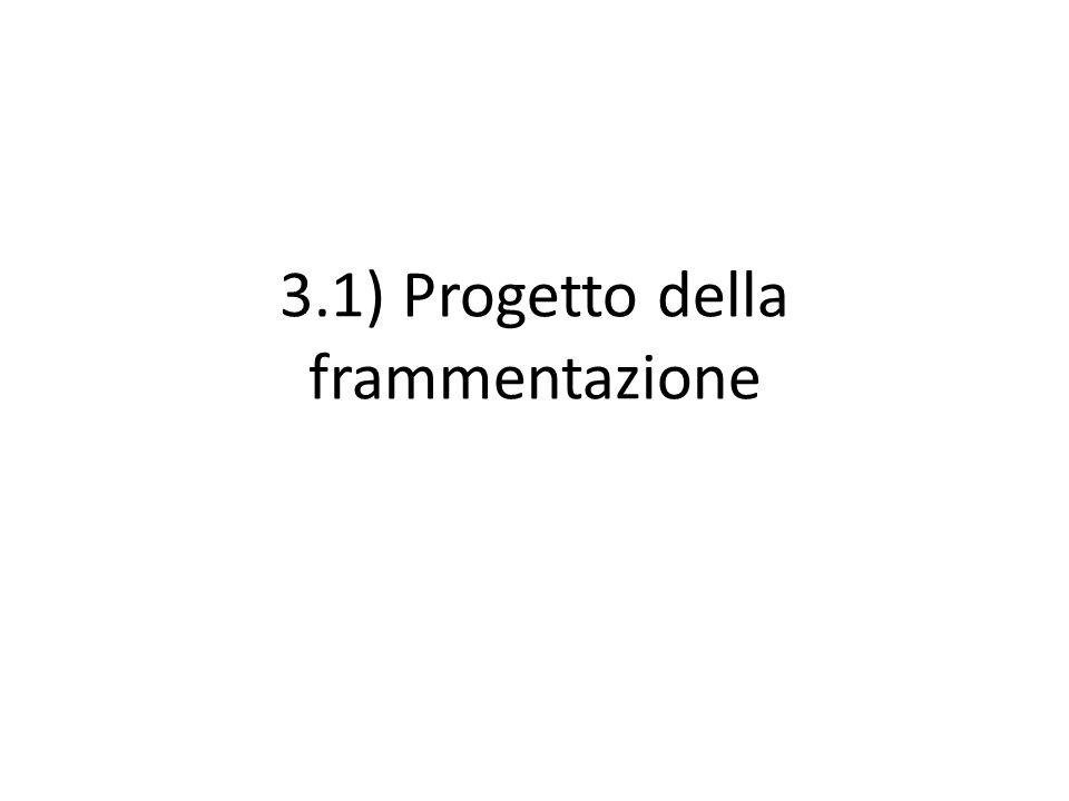 3.1) Progetto della frammentazione