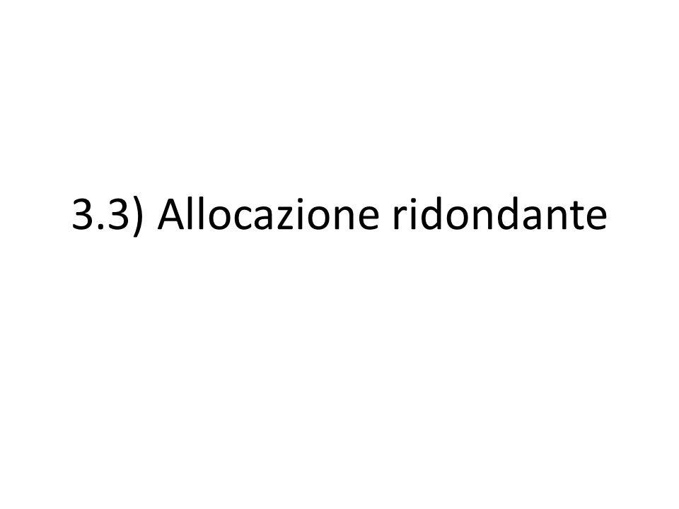 3.3) Allocazione ridondante