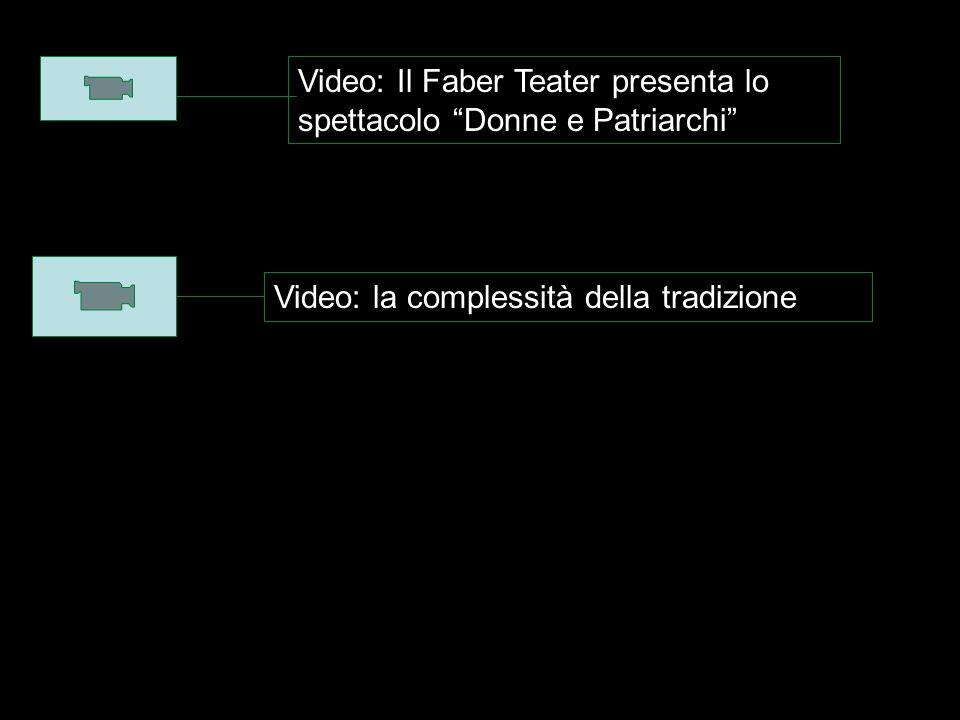 Video: Il Faber Teater presenta lo spettacolo Donne e Patriarchi Video: la complessità della tradizione