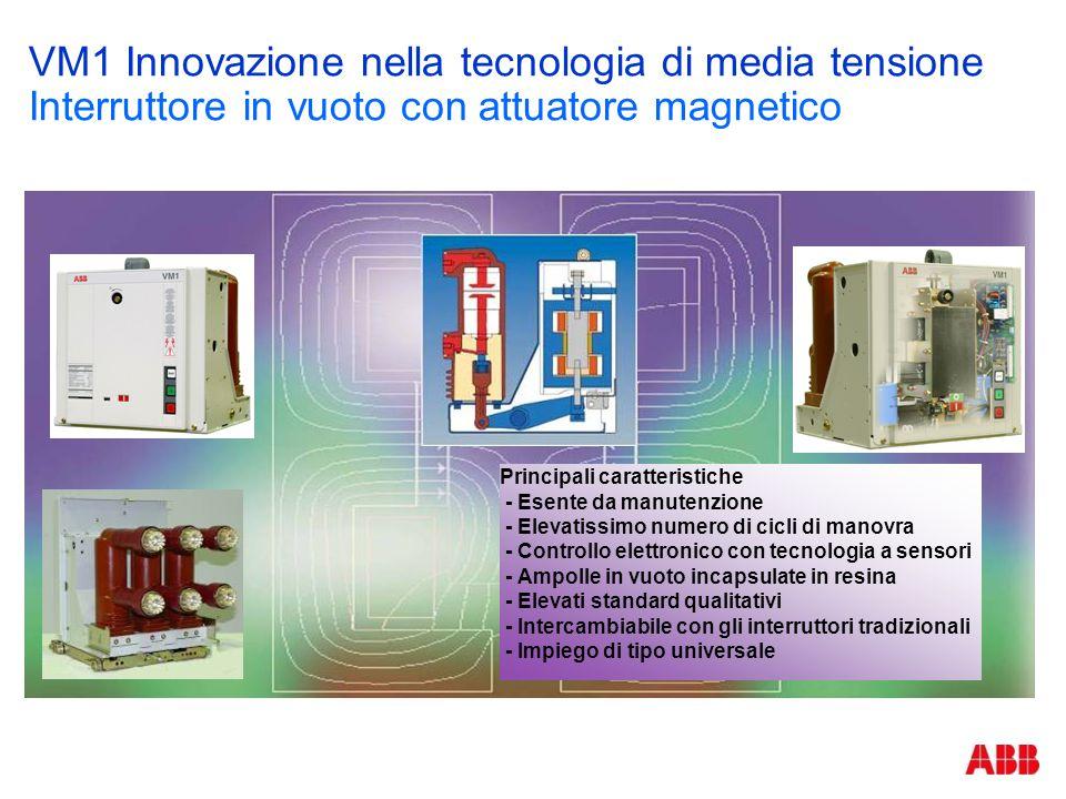 VM1 Innovazione nella tecnologia di media tensione Interruttore in vuoto con attuatore magnetico Die Summe von Vorteilen Keine Wartung Wenige Einzelte