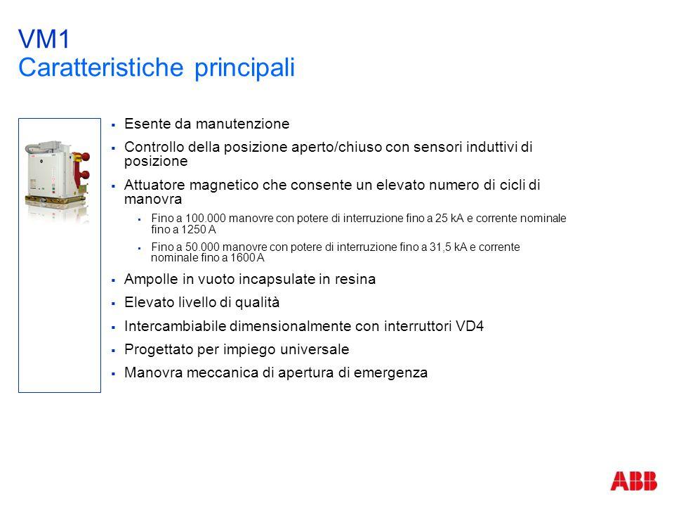 VM1 Caratteristiche principali  Esente da manutenzione  Controllo della posizione aperto/chiuso con sensori induttivi di posizione  Attuatore magne