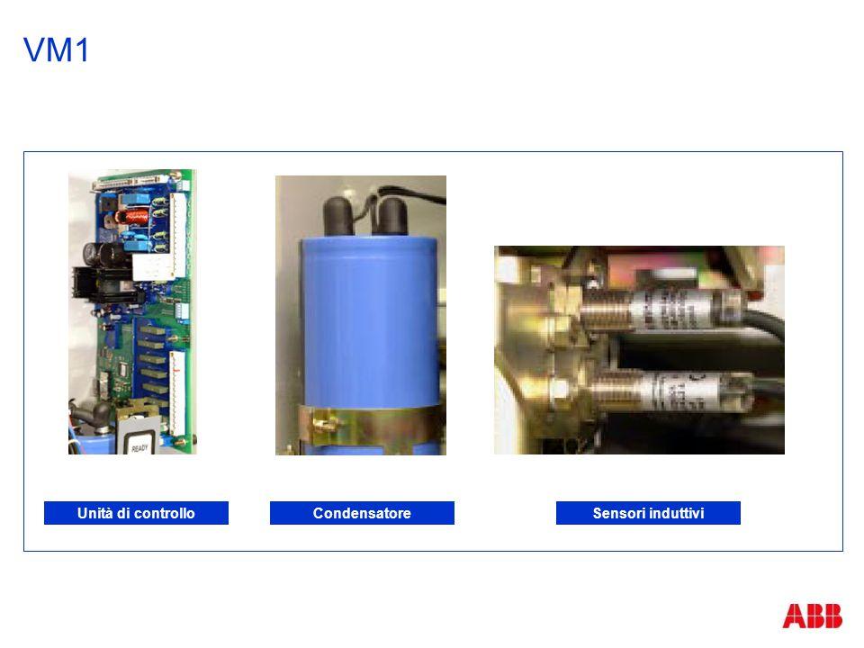 VM1 Unità di controlloCondensatoreSensori induttivi