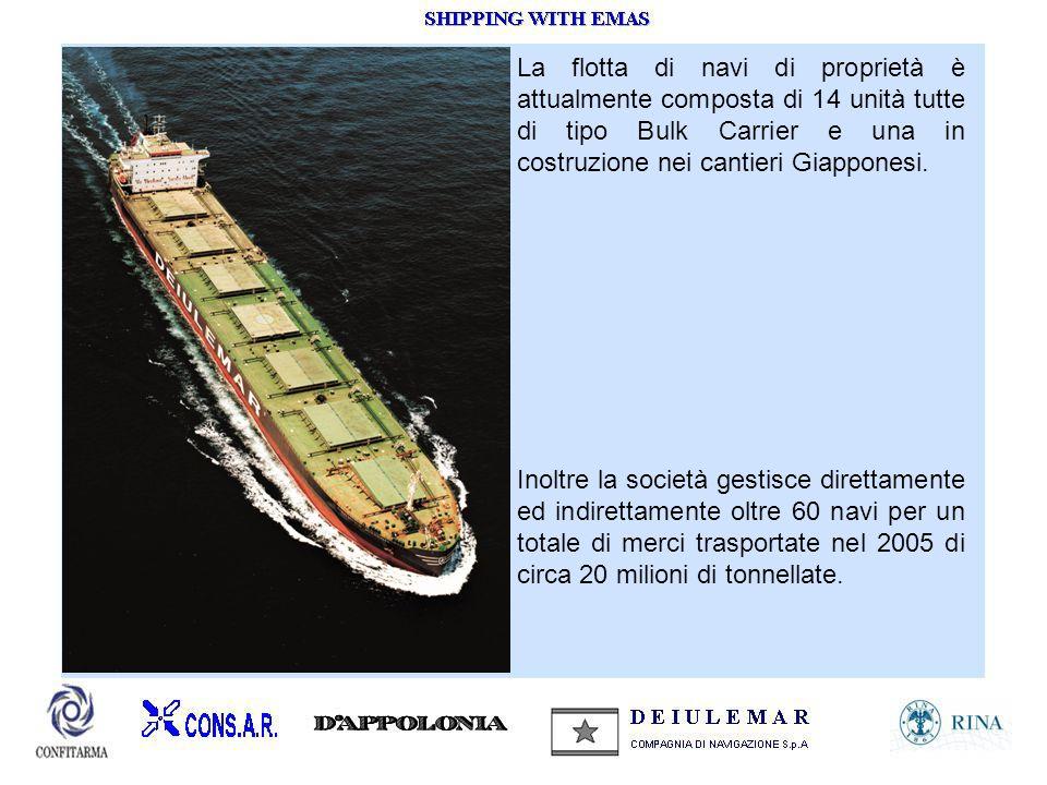 Inoltre la società gestisce direttamente ed indirettamente oltre 60 navi per un totale di merci trasportate nel 2005 di circa 20 milioni di tonnellate