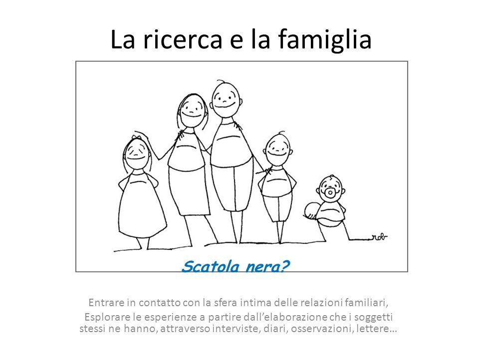 La natura 'privata' delle relazioni familiari rischia di ostacolare la possibilità di esprimere la soggettività delle famiglie descrivere Le caratteristiche sulla cui base la famiglia è riconoscibile Il significato attribuito dalle famiglie alle loro esperienze