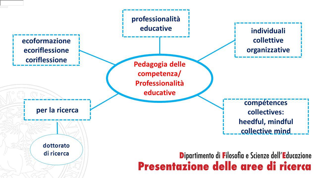 Pedagogia delle competenza/ Professionalità educative professionalità educative individuali collettive organizzative per la ricerca dottorato di ricer
