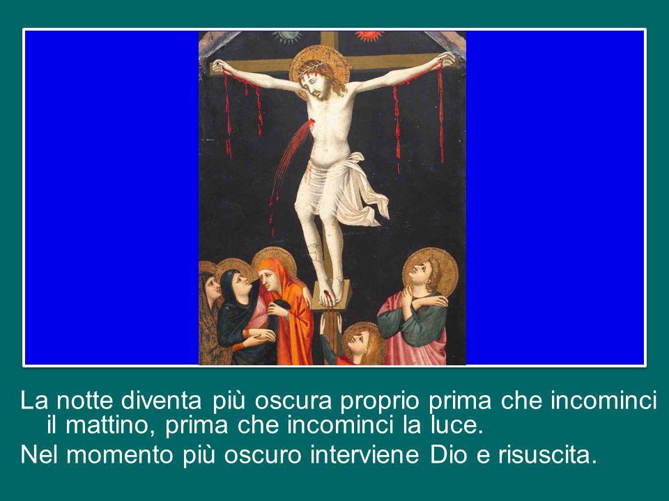 La risurrezione di Gesù non è il finale lieto di una bella favola, non è l'happy end di un film; ma è l'intervento di Dio Padre e là dove si infrange la speranza umana.