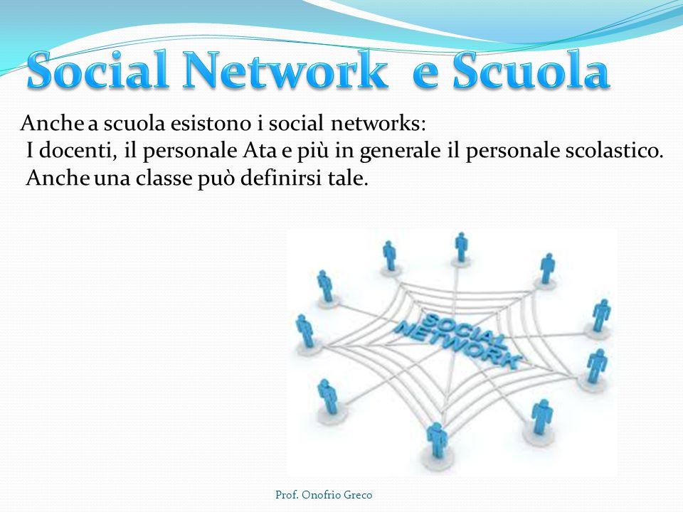 Anche a scuola esistono i social networks: I docenti, il personale Ata e più in generale il personale scolastico.