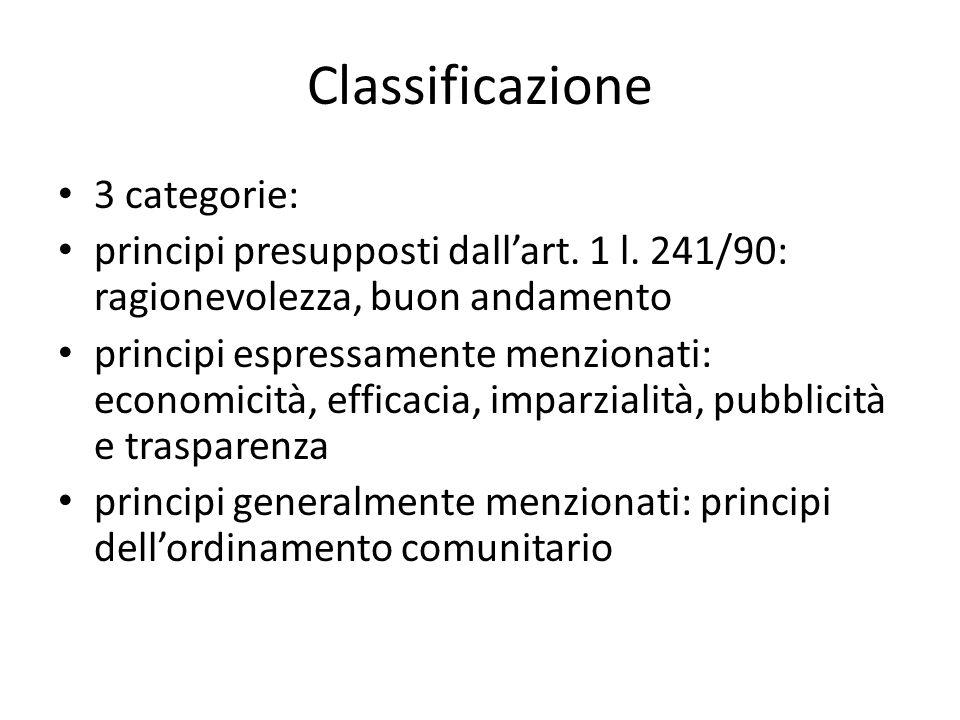 Principio di ragionevolezza Principio non scritto Sistema a cascata dal generico allo specifico: ragionevolezza, art.