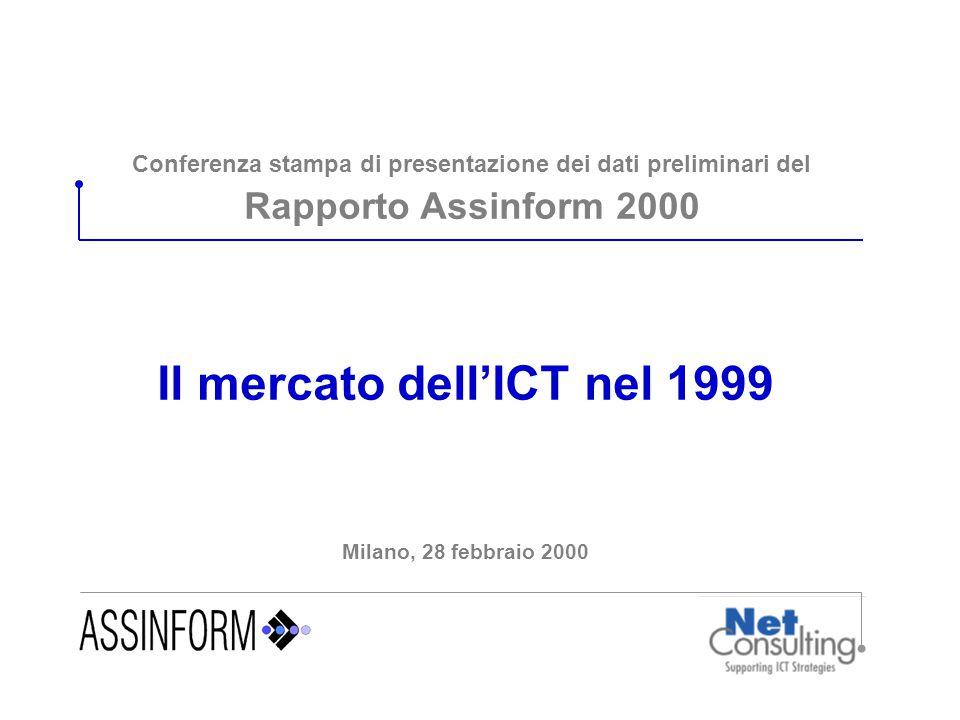 Conferenza stampa di presentazione dei dati preliminari del Rapporto Assinform 2000 Il mercato dell'ICT nel 1999 Milano, 28 febbraio 2000