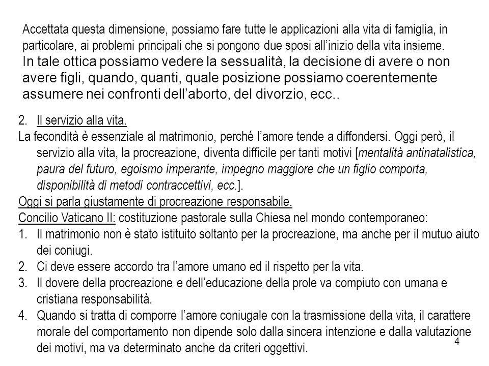5 Paolo VI pubblicò, nel 1968, l'enciclica Humanae Vitae dalle prime due parole del testo latino suscitò un'ondata di polemiche.