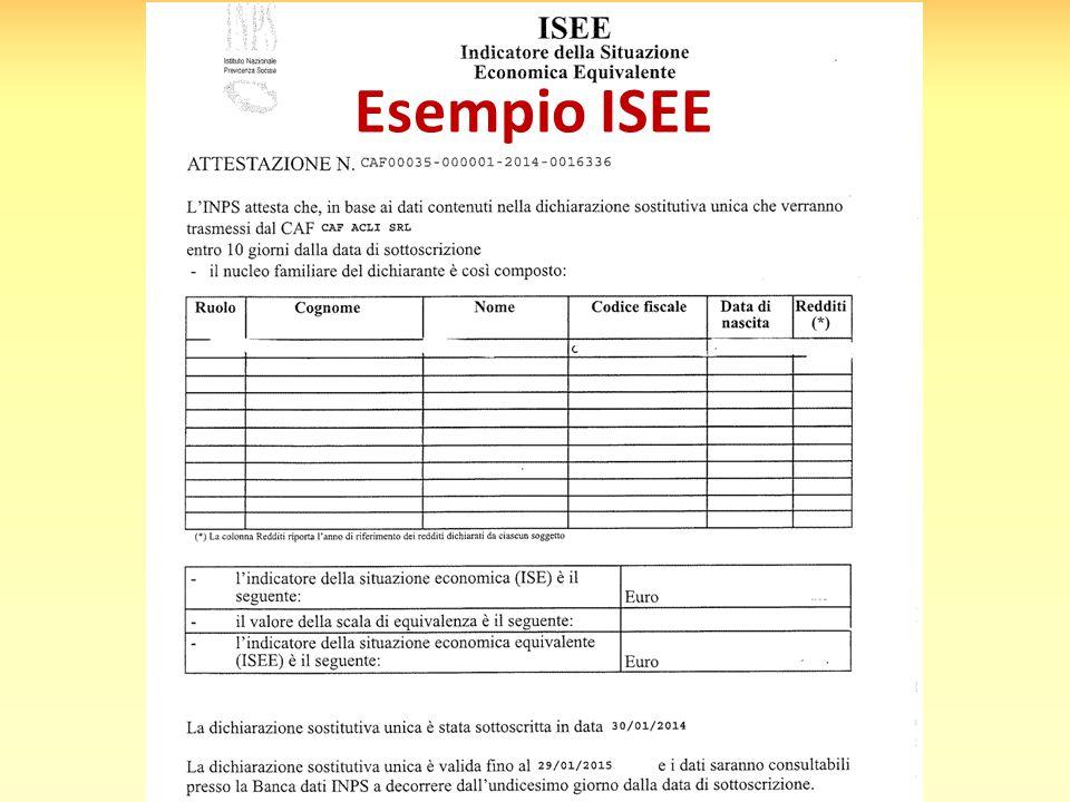 Esempio ISEE