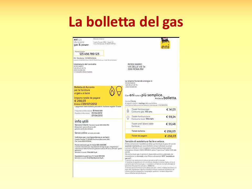 La bolletta del gas