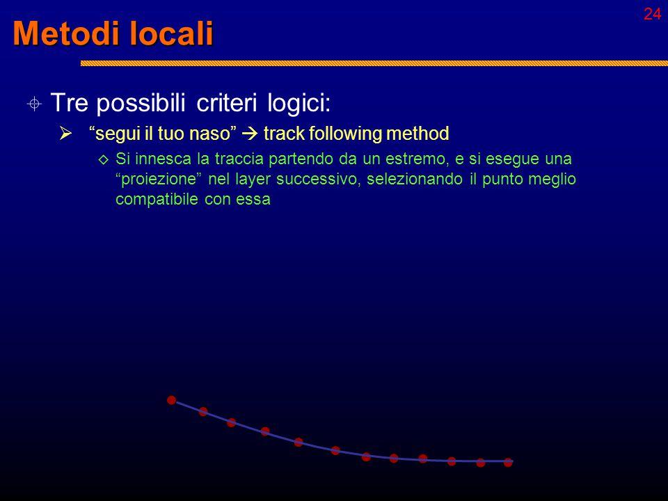 """23 Local vs. Global  Metodi locali:  Scelta dei punti """"step-by-step"""" con una informazione che rimane parziale fino al termine della procedura  Il r"""