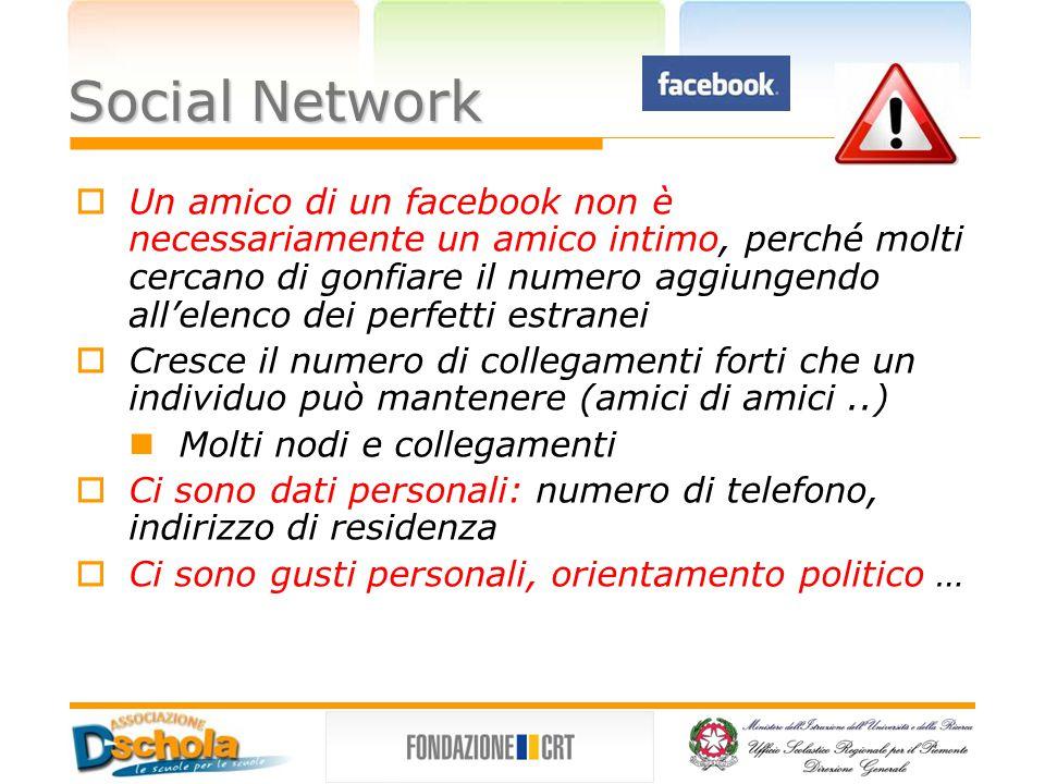Social Network  Nel 2006 Facebook lanciò un servizio, denominato NEWS FEED, che avrebbe allertato gli utenti ogni volta che i loro amici aggiungevano informazioni o fotografie ai loro profili Il sistema rendeva le informazioni più accessibili Seguì una protesta.