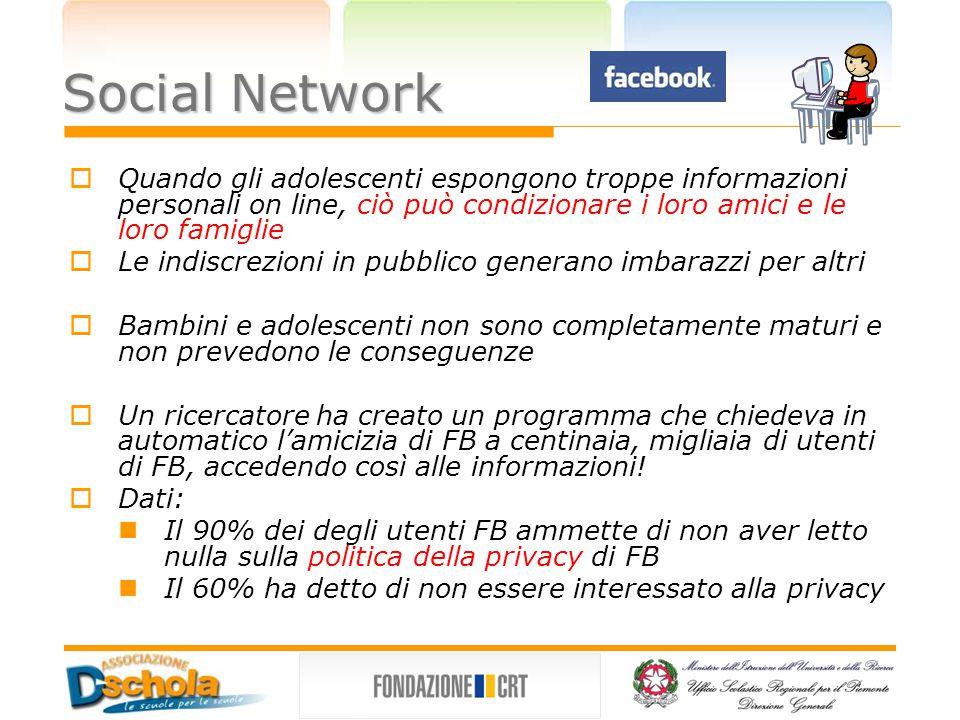 Conseguenze e pericoli  I datori di lavoro effettuano ricerche sui social network e sui siti in generale  Alcune aziende utilizzano software per monitorare i blog dei dipendenti  Alcune persone creano falsi profili.