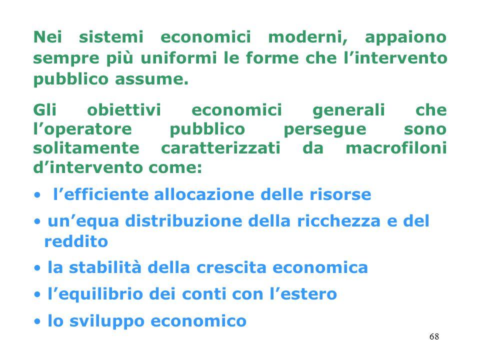 68 Nei sistemi economici moderni, appaiono sempre più uniformi le forme che l'intervento pubblico assume.