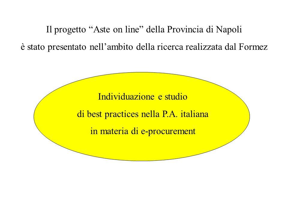 Il progetto Aste on line della Provincia di Napoli è stato presentato nell'ambito della ricerca realizzata dal Formez Individuazione e studio di best practices nella P.A.