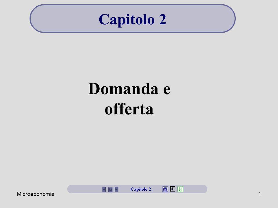 Microeconomia1 Domanda e offerta Capitolo 2