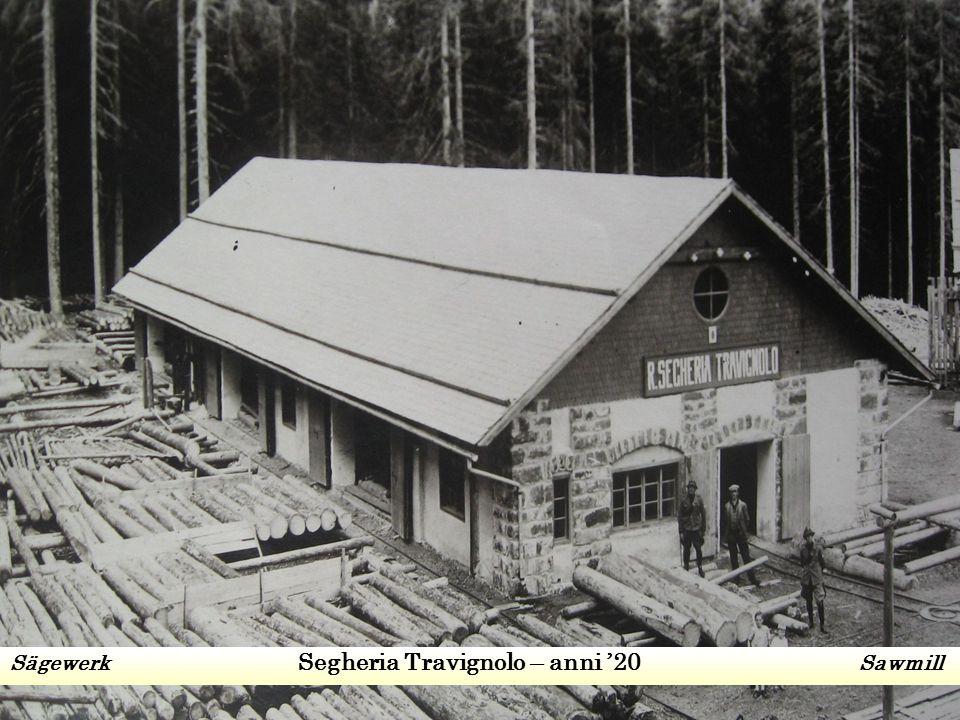 Sägewerk Segheria Travignolo – anni '20 Sawmill
