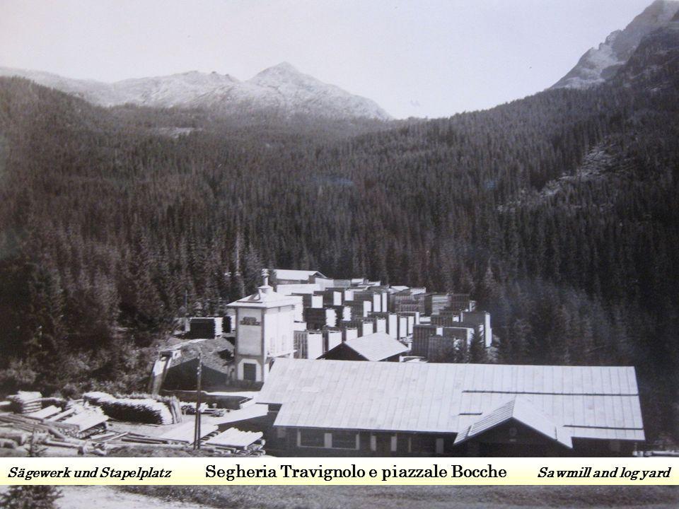 Sägewerk und Stapelplatz Segheria Travignolo e piazzale Bocche Sawmill and log yard