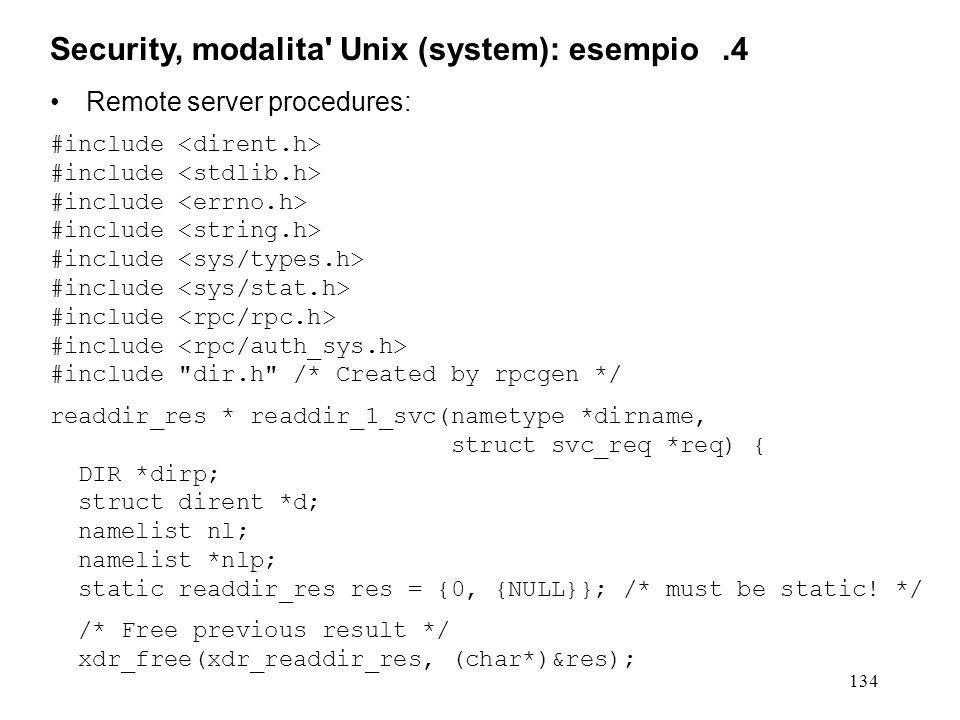 134 Remote server procedures: #include #include