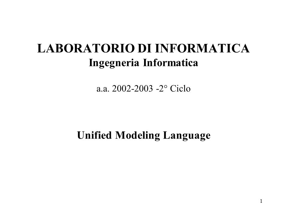 62 Unified Modeling Language Generalizzazione degli Stati La complessità di un diagramma a stati può essere ridotta con la Generalizzazione degli stati.