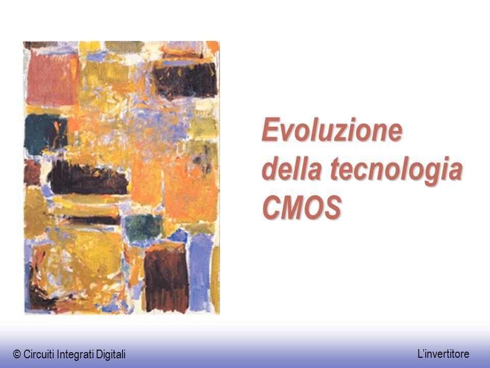 © Circuiti Integrati Digitali L'invertitore Evoluzione della tecnologia CMOS