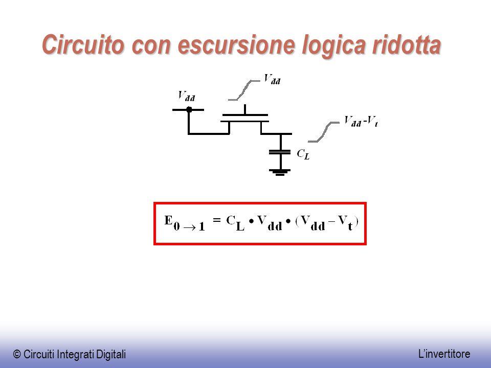 © Circuiti Integrati Digitali L'invertitore Circuito con escursione logica ridotta