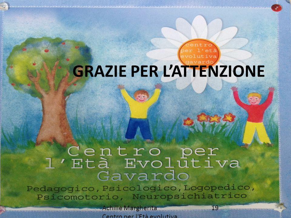 19Achille Margherita Centro per l'Età evolutiva Gavardo GRAZIE PER L'ATTENZIONE