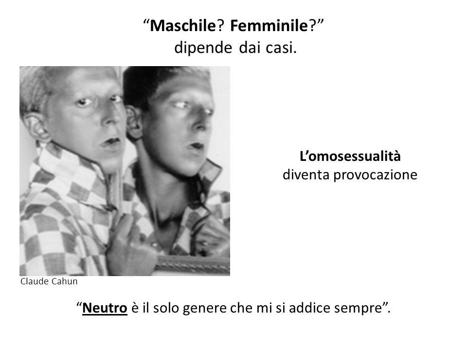 """""""Neutro è il solo genere che mi si addice sempre"""". """"Maschile? Femminile?"""" dipende dai casi. L'omosessualità diventa provocazione Claude Cahun"""