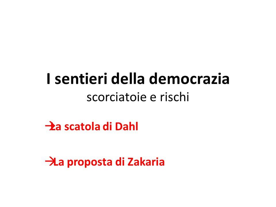 I sentieri della democrazia scorciatoie e rischi  La scatola di Dahl  La proposta di Zakaria