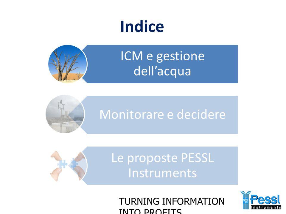 TURNING INFORMATION INTO PROFITS Il contesto (1) Il futuro dell'agricoltura deve essere sostenibile