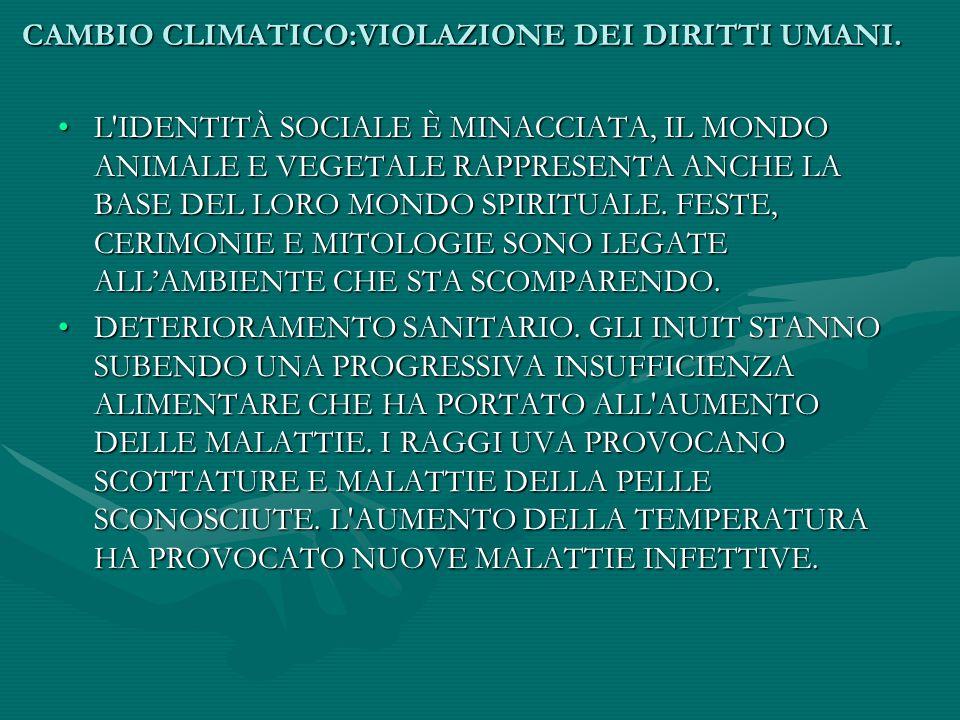 CAMBIO CLIMATICO:VIOLAZIONE DEI DIRITTI UMANI. IL SUOLO SI SCIOGLIE SOTTO I PIEDI,SI SONO GIÀ VERIFICATI I PRIMI MORTI CHE SONO SPROFONDATI NELL' ACQU