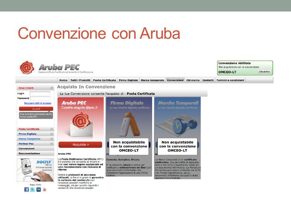 Convenzione con Aruba