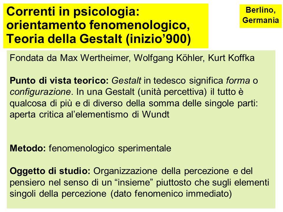Radici della psicologia: Wundt (1832-1920) Principali critiche: -è un approccio elementista Meriti: -importanza data al metodo scientifico -rappresenta il punto di partenza dei successivi approcci alla psicologia