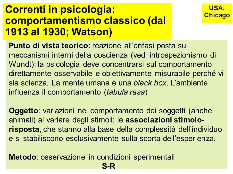 Correnti in psicologia: Teoria della Gestalt (inizio'900) Finalità: ricerca di base sul funzionamento della percezione umana Alcuni ambiti di applicazione: intelligenza, pensiero produttivo, apprendimento