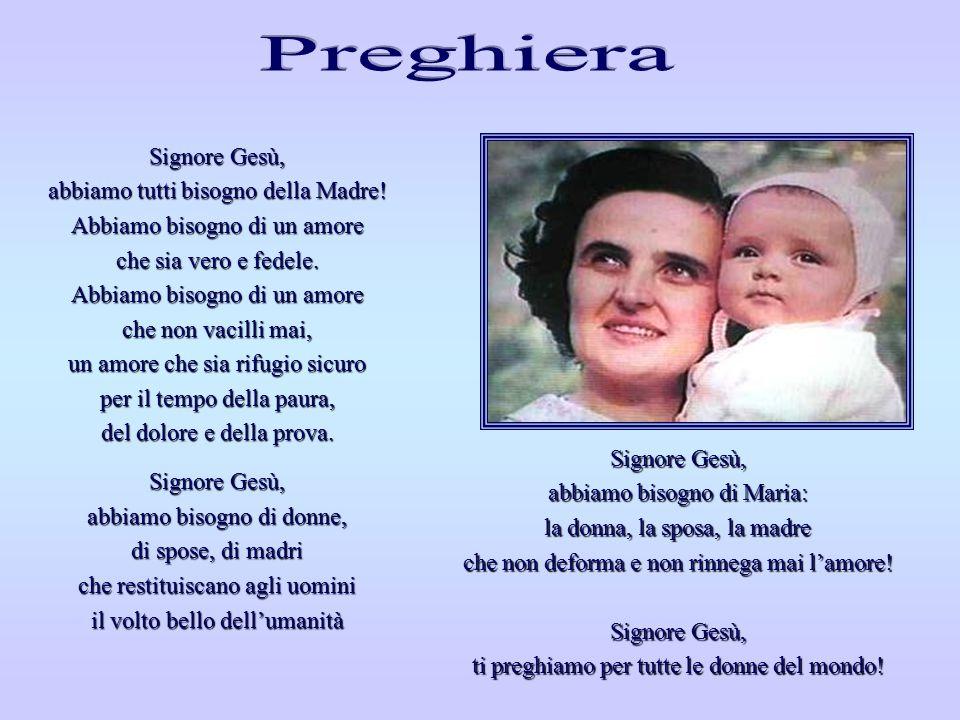 Maria è la Madre! Il suo cuore è fedelmente accanto al cuore del Figlio e soffre e porta la croce e sente nella propria carne tutte le ferite della ca