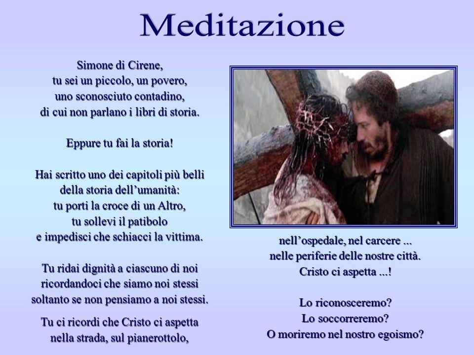QUINTA STAZIONE QUINTA STAZIONE Gesù è aiutato da Simone di Cirene a portare la Croce Via Crucis, Felix Anton Scheffler - 1757 Chiesa di San Martino -
