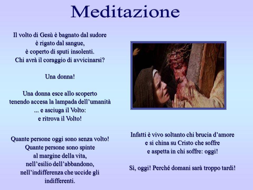 SESTA STAZIONE SESTA STAZIONE La Veronica asciuga il volto di Gesù Via Crucis, Felix Anton Scheffler - 1757 Chiesa di San Martino - Ischl, Seeon (dioc